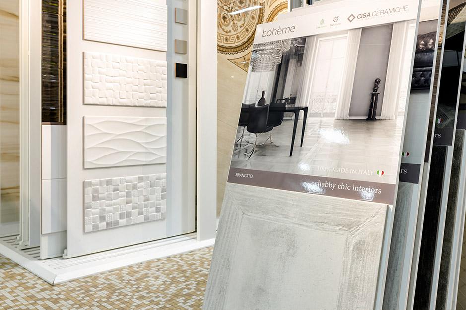 Большой выбор плитки в магазине Санта-Керамика в Москве
