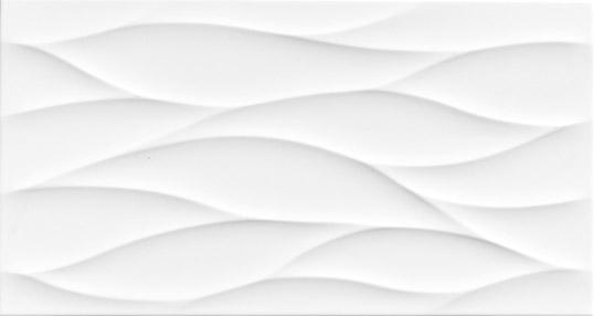 Рельефная плитка белого цвета