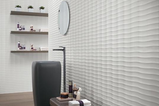 Белая рельефная плитка
