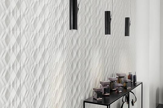Белая плитка с эффектом 3D, Италия