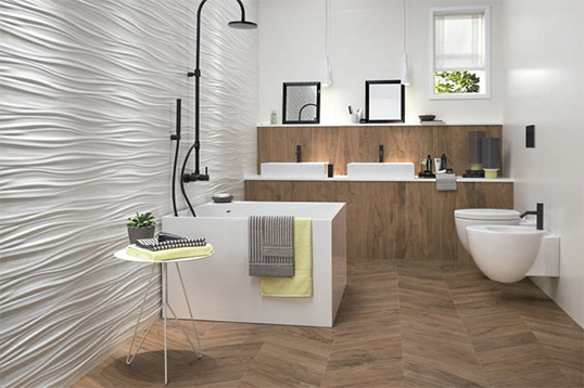 Купить 3D плитку для ванной в Москве