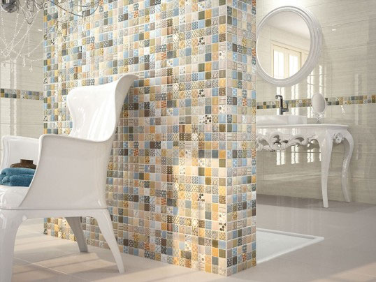 Плитка в ванную комнату под мозаику купить со склада