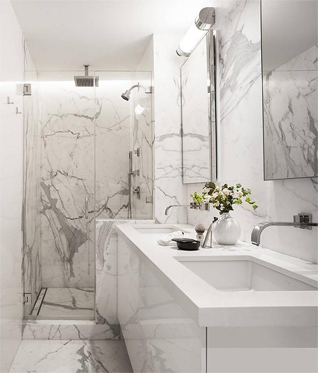 Плитка под белый мрамор для ванной фото