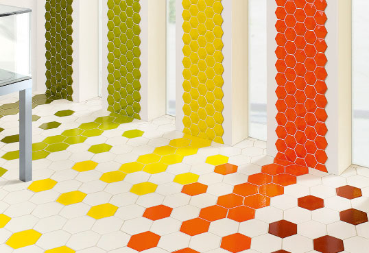Яркая дизайнерская плитка с эффектом 3D