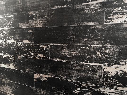 Дизайнерская черная плитка под дерево для пола