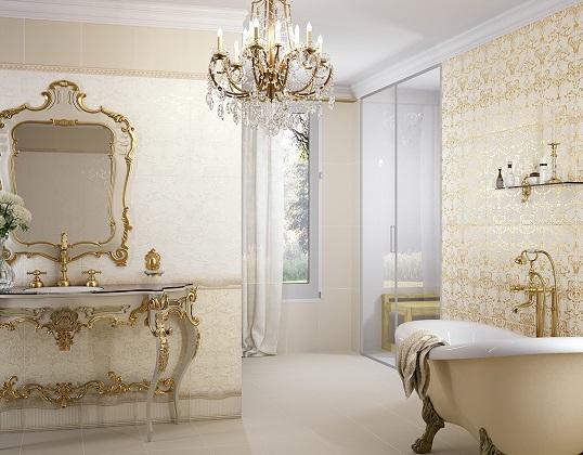 Плитка для ванной комнаты в классическом стиле