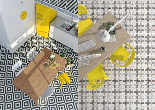 Дизайнерская напольная плитка в стиле современного искусства