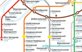 Схема ближайшего метро к магазину плитки на Нахимовском