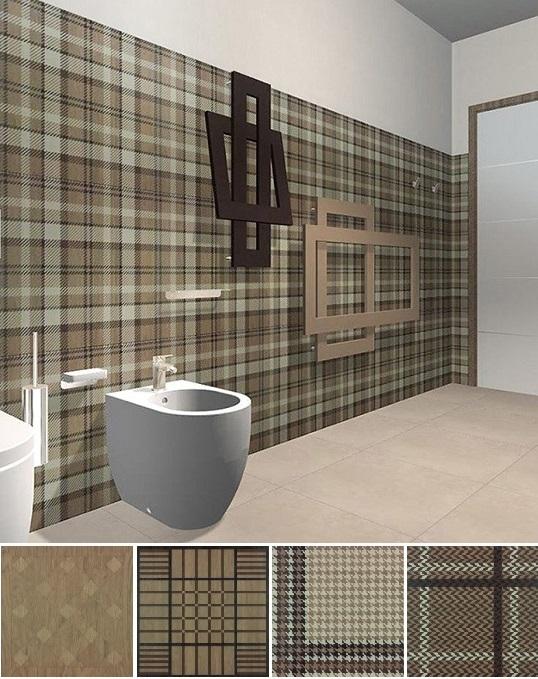 """Модная плитка для ванной с рисунком """"шотландка"""" для ванной"""