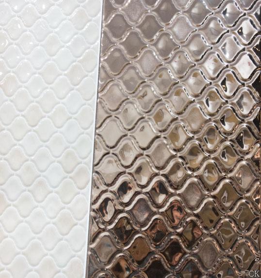 Декоративная плитка под металл в восточном стиле