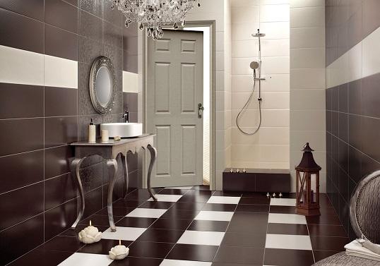 Шоколадная плитка в ванную
