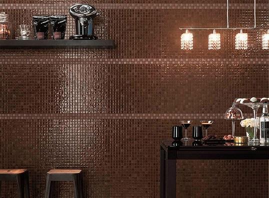 Плитка под мозаику коричневого цвета