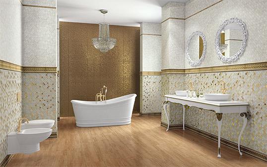 Плитка для ванной комнаты в восточном стиле