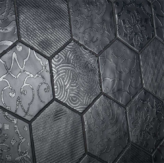 Дизайнерская шестиугольная плитка с узорами