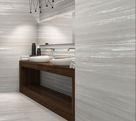 Модная плитка большого размера для ванной