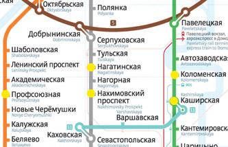 Схема ближайшего метро к магазину плитки в МФТК Каширский Двор
