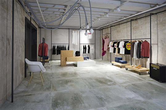 Дизайнерский керамогранит под бетон