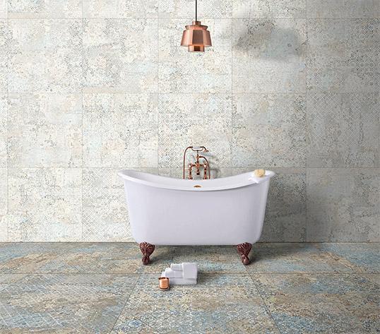 Дизайнерская плитка большого размера для ванной комнаты