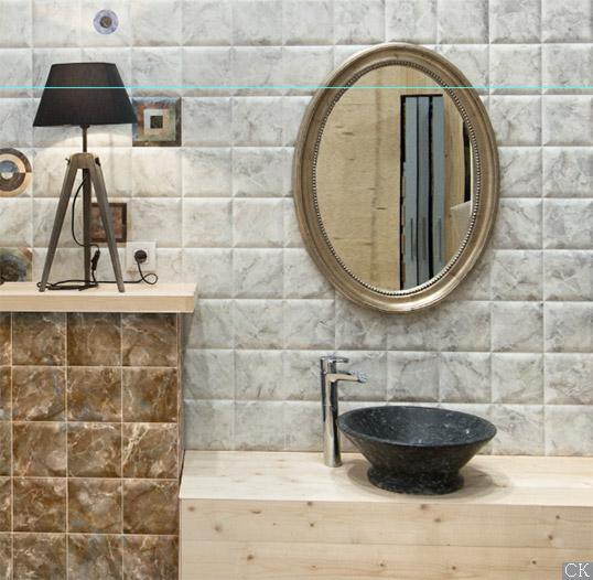 Выпуклая плитка под камень для ванной
