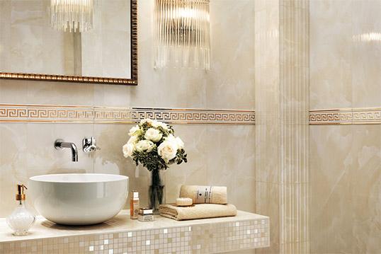 Итальянская плитка под камень для ванной комнаты