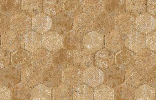 Дизайнерская плитка на пол и стены в форме шестиугольников