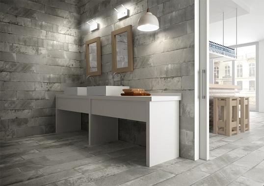 Плитка для ванной комнаты в стиле лофт и индастриал