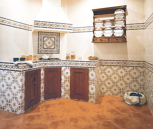Плитка для кухни в стиле прованс