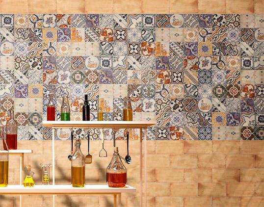 Плитка для кухни в стиле прованс, с рисунками