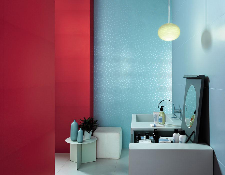 Голубая сатинированная плитка для ванной комнаты, новинка!