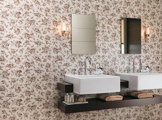 Плитка для ванной и кухни с мелким цветочным узором