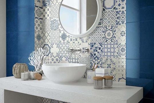 Плитка в кикладском стиле средиземноморья для ванной и кухни