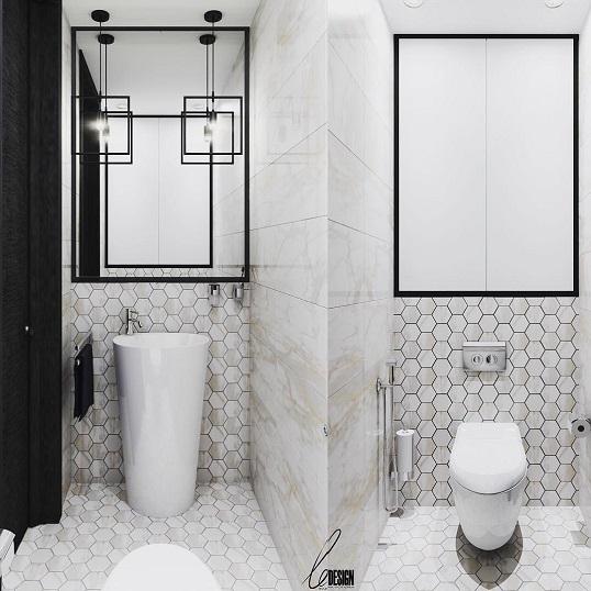 Шестиугольная плитка под белый мрамор для пола и стен