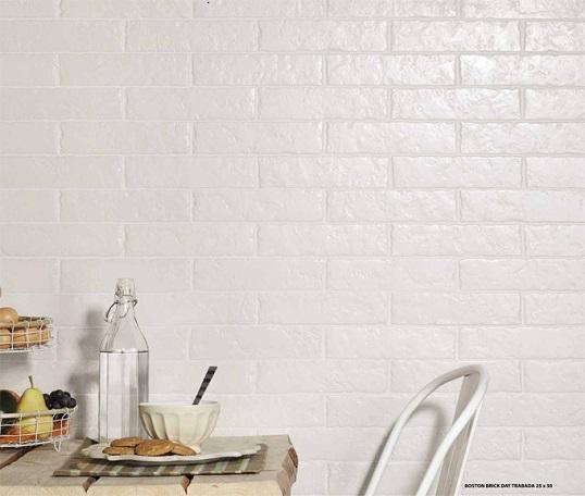 Плитка под белый кирпич для скандинавской ванной