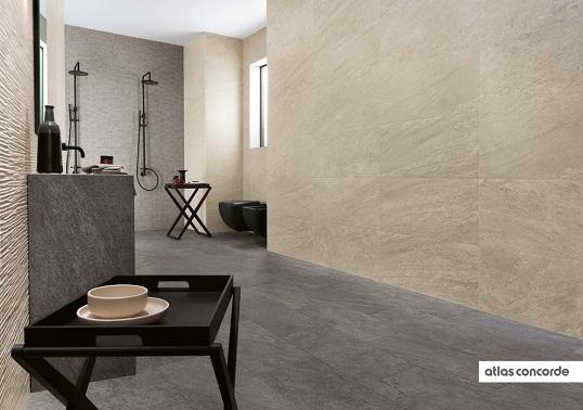 Плитка под камень для ванной в скандинавском стиле