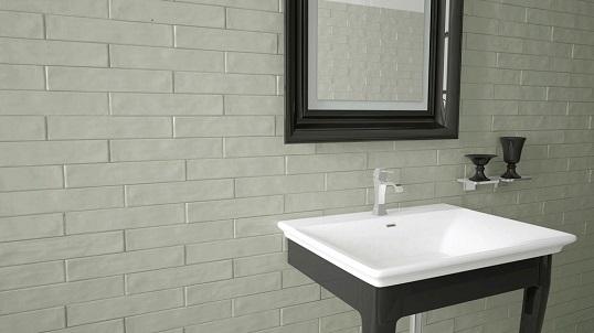 Плитка небольшого размера для ванной в скандинавском стиле