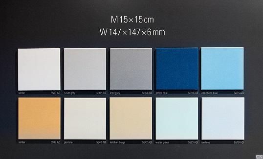Небольшая плитка белого цвета для пола, 15х15