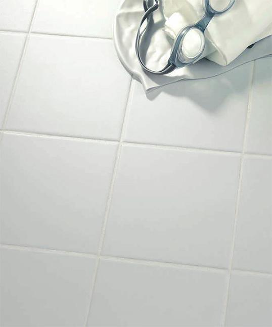 Небольшая белая плитка 10х10 для пола