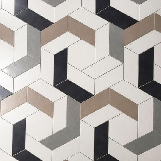 Дизайнерский белый керамогранит сложной формы