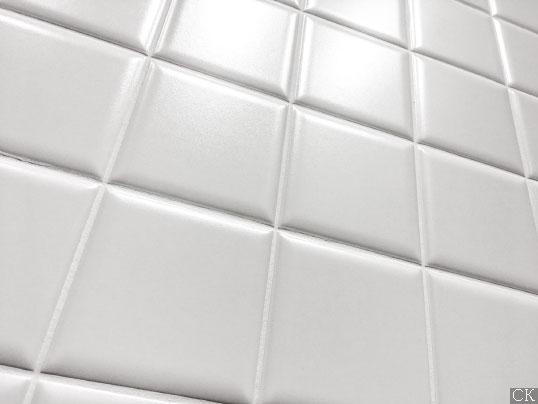 Матовая белая керамическая плитка для стен, 10х10 см