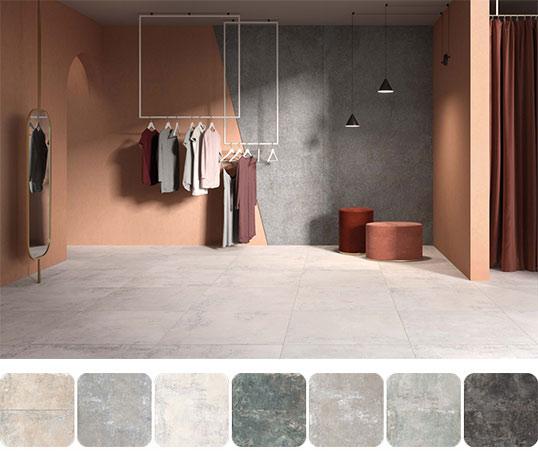 Ультрамодный керамогранит под бетон в большом формате