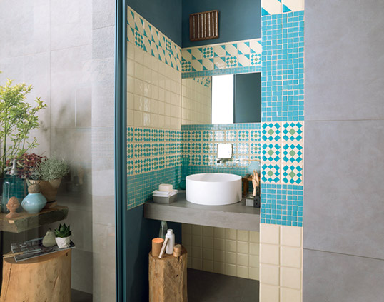 Настенная бирюзовая плитка для ванной комнаты и кухни