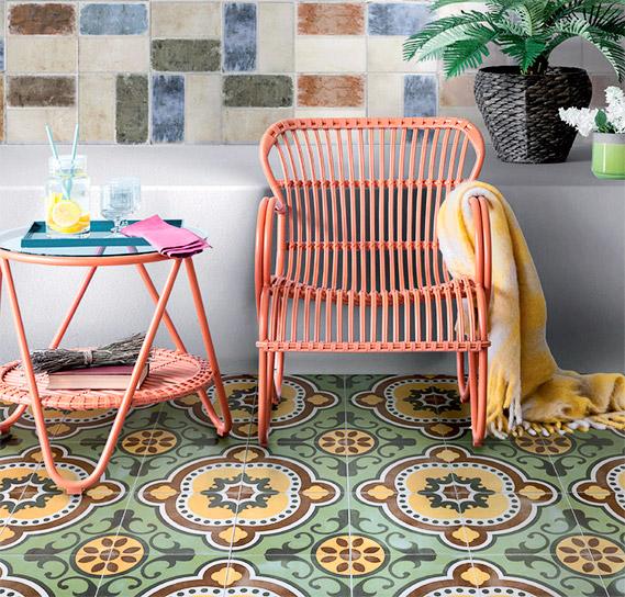 Новая узорчатая плитка в мексиканском, испанском и итальянском стиле