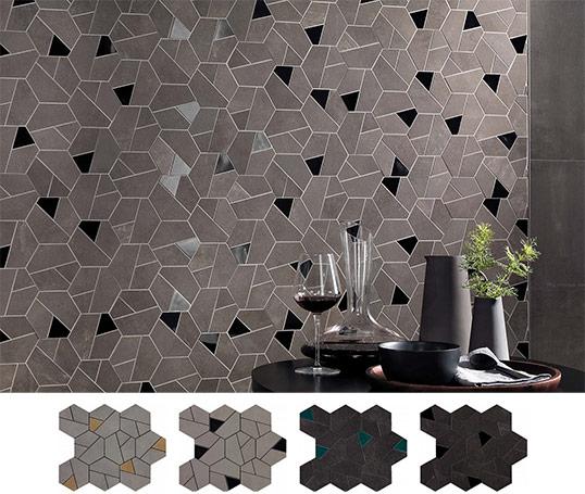 Керамогранитные шестиугольники на сетке