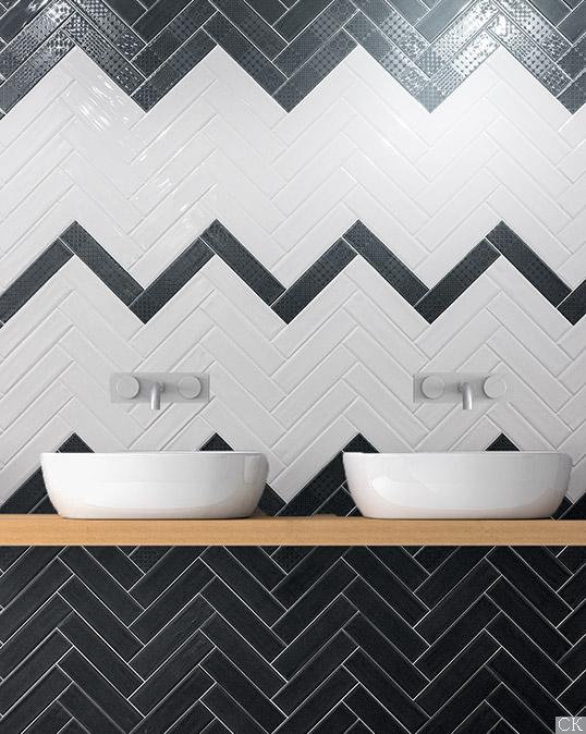 Черно-белая плитка для ванной, новинка 2016