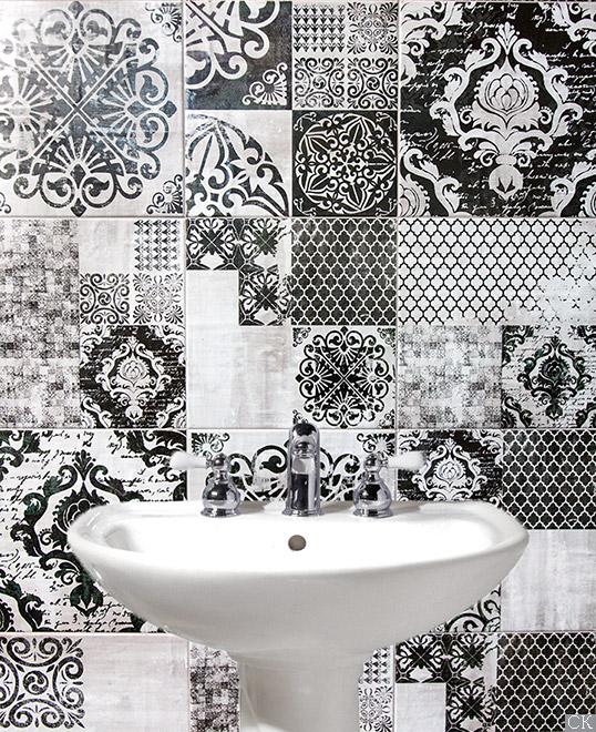 Черно-белая плитка 20х20 для ванной