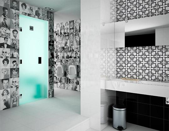 Плитка с черно-белым рисунком для ванной комнаты, распродажа