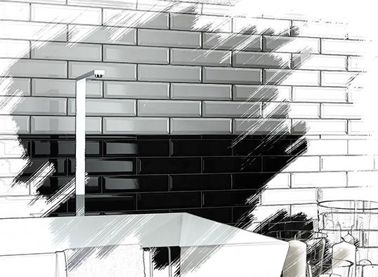 Плитка черно-белая в ванную