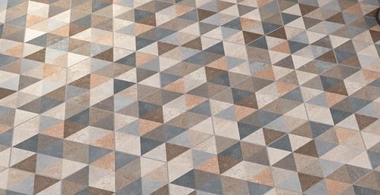 Плитка шестиугольной формы с дизайнерским рисунком
