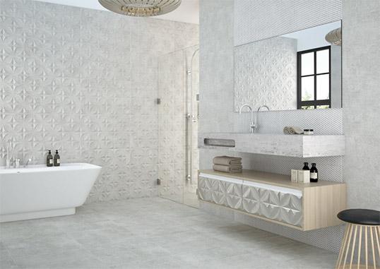 Рельефная плитка для ванной, новинка 2015