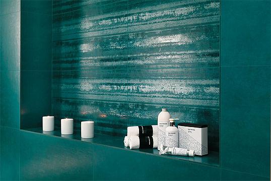 Бирюзовая плитка для ванной комнаты